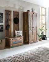 Vintage Möbel Massivholz Dielen-Set Schuhschrank Garderobe Kleiderschrank