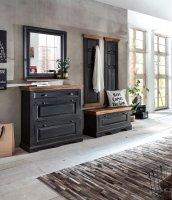 Kolonial Möbel Massivholz MDF Dielen-Set gr.Schuhschrank kl.Schuhschrank Garderobe Spiegel