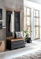 Kolonial Möbel Massivholz MDF Dielen-Set Schuhschrank Garderobe