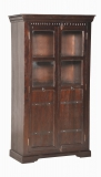 Kolonial Möbel Vitrine 97x178x50cm Massivholz